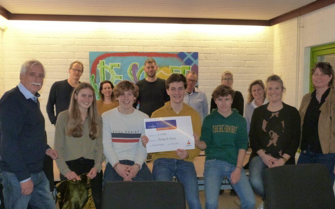 Cheque Rabobank de Langstraat geeft boost aan start Heusdens Talent project
