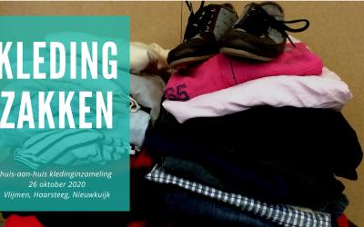 Kledingzakken huis-aan-huis kledinginzameling 26 oktober