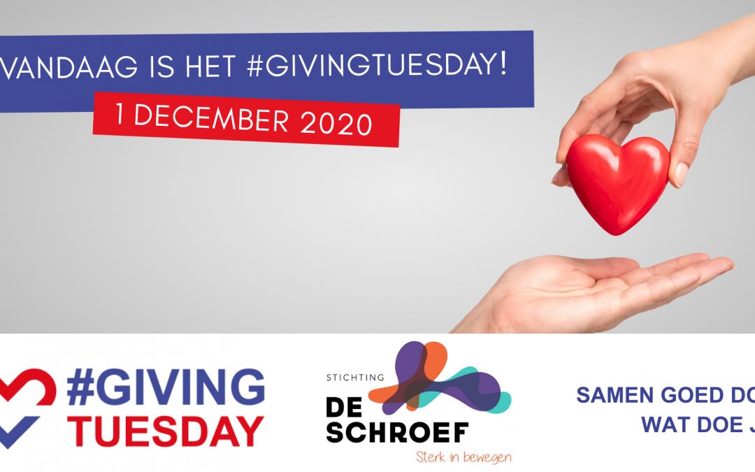 Vandaag is het #GivingTuesday. Wat doen wij.