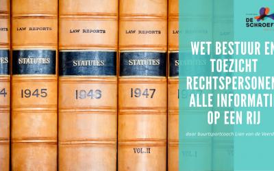 Wet Bestuur en Toezicht Rechtspersonen: alle informatie op een rij