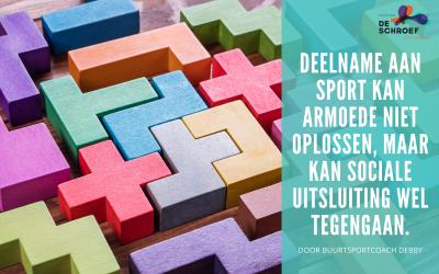 Deelname aan sport kan het armoedeprobleem niet oplossen, maar kan sociale uitsluiting wel tegengaan.